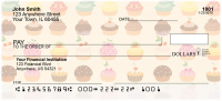 Colorful Cupcakes Personal Checks | EVC-44
