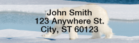 Polar Bears Narrow Address Labels | LRANI-13