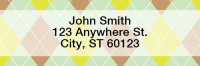 Vertical Argyle Narrow Address Labels | LRGEO-11