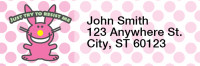 It's Happy Bunny Girly Rectangle Address Labels | LRRIHB-03