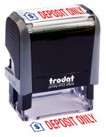 """Deposit Only"" Message Stamp 