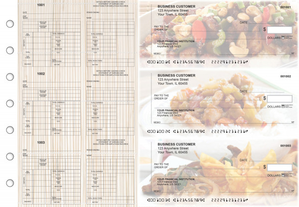 Chinese Cuisine Multi-Purpose Counter Signature Business Checks | BU3-7CDS04-MPC