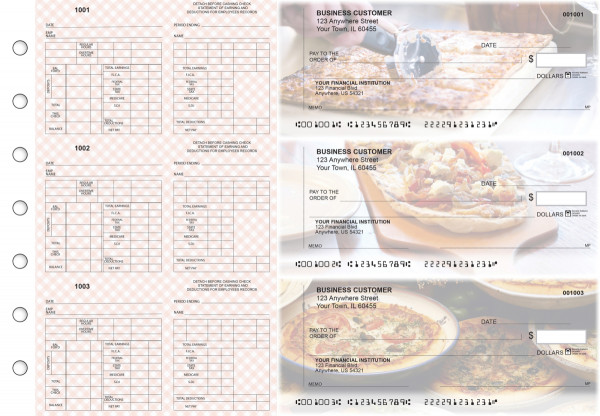 Pizza Multi-Purpose Counter Signature Business Checks | BU3-7CDS08-MPC