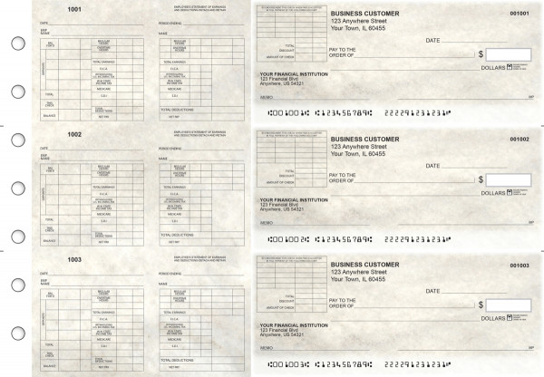 Granite Multi-Purpose Corner Voucher Business Checks | BU3-7CDS16-MPV