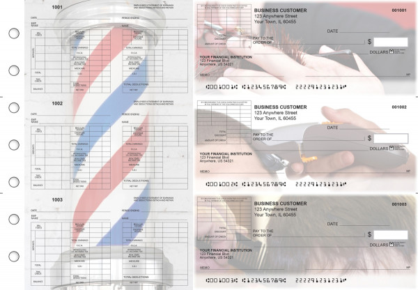 Barber Multi-Purpose Corner Voucher Business Checks | BU3-7CDS28-MPV