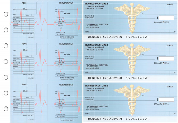 Medical Multi-Purpose Salary Voucher Business Checks | BU3-7CDS30-MPS