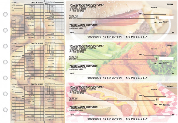 American Cuisine Payroll Designer Business Checks  | BU3-CDS01-PAY