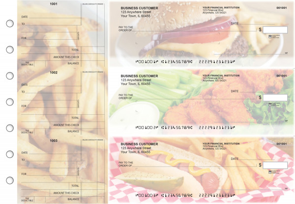 American Cuisine Standard Mailer Business Checks | BU3-CDS01-SML