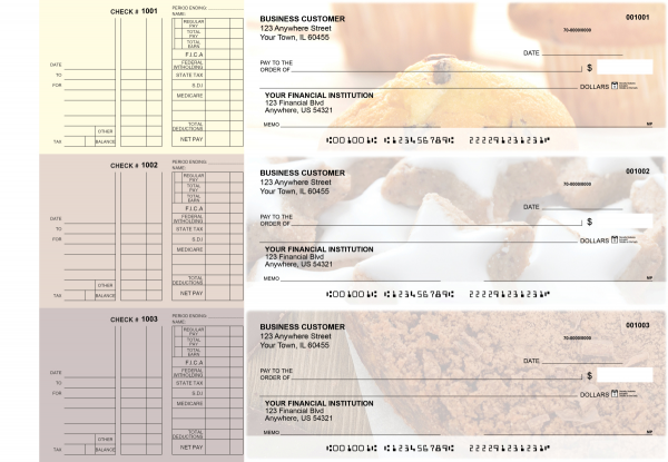 Bakery Multi Purpose Designer Business Checks  | BU3-CDS02-DEP