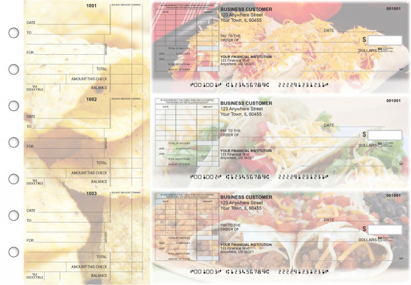 Mexican Cuisine Standard Itemized Invoice Business Checks | BU3-CDS07-SII