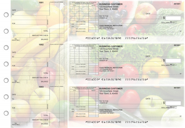 Fresh Produce Standard Itemized Invoice Business Checks | BU3-CDS09-SII