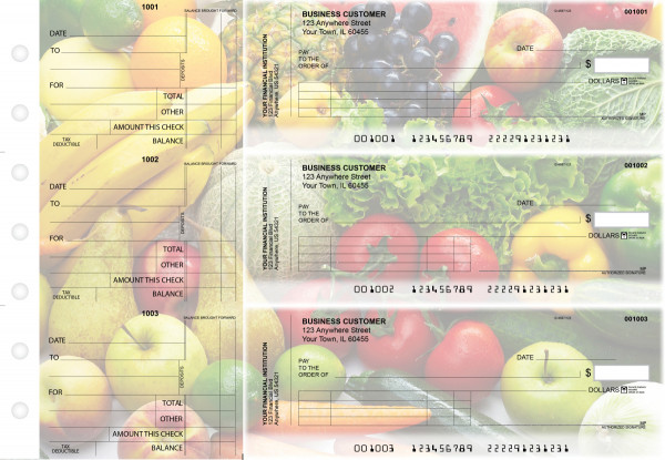 Fresh Produce Standard Invoice Business Checks | BU3-CDS09-SNV