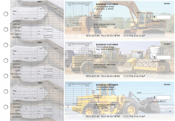 Construction General Itemized Invoice Business Checks | BU3-CDS10-GII