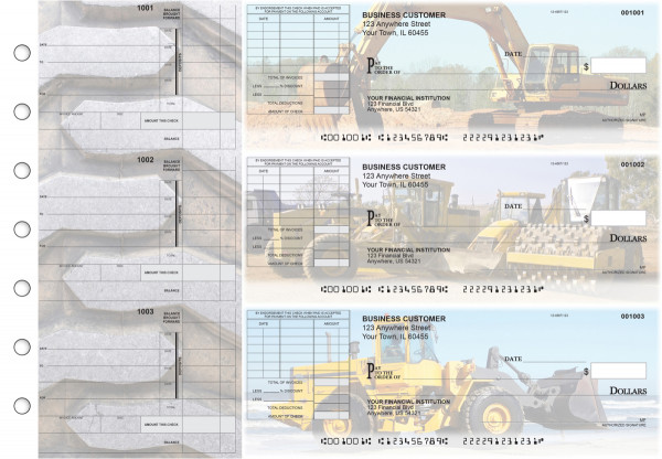 Construction Itemized Invoice Business Checks | BU3-CDS10-TNV