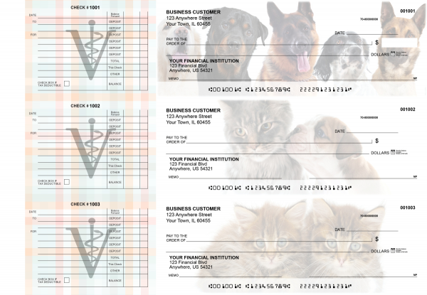 Veterinarian Accounts Payable Designer Business Checks | BU3-CDS14-DED
