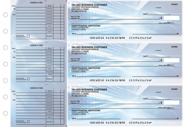 Digital Accounts Payable Designer Business Checks | BU3-CDS15-DED