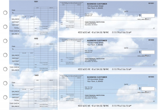 Clouds General Itemized Invoice Business Checks | BU3-CDS21-GII