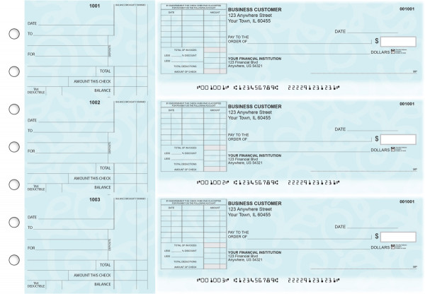 Swirls Standard Itemized Invoice Business Checks | BU3-CDS24-SII
