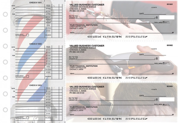 Barber Accounts Payable Designer Business Checks | BU3-CDS28-DED