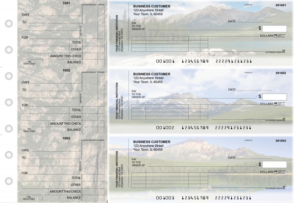 Scenic Mountains Standard Invoice Business Checks | BU3-CDS29-SNV