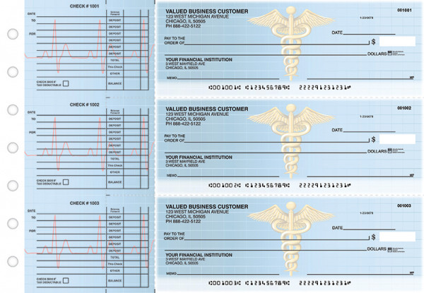 Medical Accounts Payable Designer Business Checks | BU3-CDS30-DED