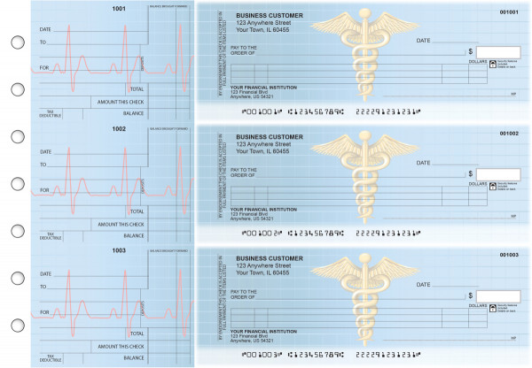 Medical Itemized Counter Signature Business Checks | BU3-CDS30-ICS