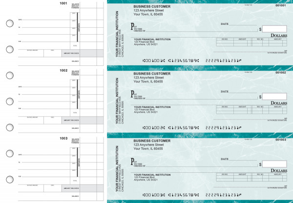 Teal Marble Invoice Business Checks | BU3-EMA01-INV