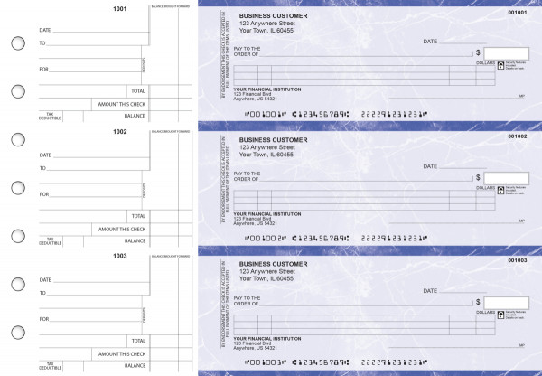Blue Marble Itemized Counter Signature Business Checks | BU3-LMA01-ICS
