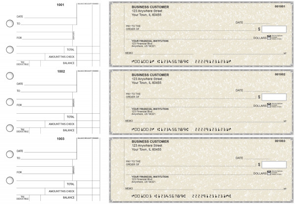 Tan Parchment Standard Counter Signature Business Checks | BU3-TPM01-SCS
