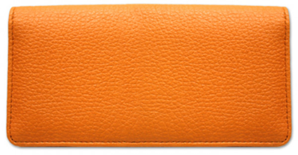 Orange Leather Checkbook Cover | CLP-ORG01