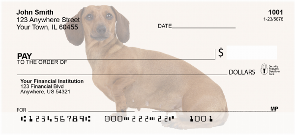 Dachshunds Personal Checks | DOG-15