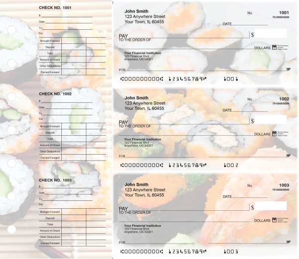 Japanese Cuisine Designer Deskset Checks | DS-CDS25