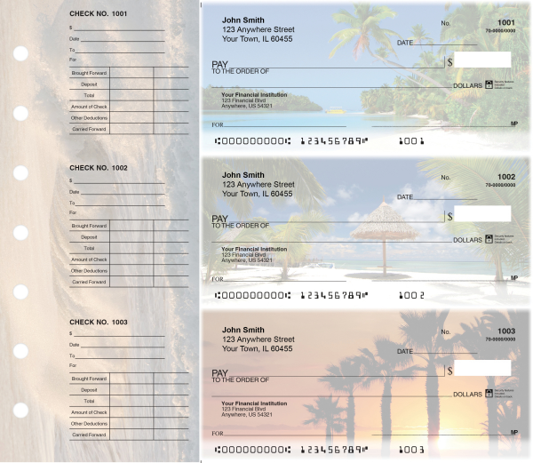 Island Paradise Designer Deskset Checks | DS-CDS28