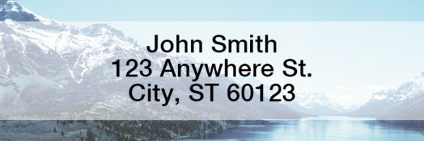 Mountain Views Narrow Address Labels | LREVC-17