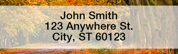 Autumn Roads Narrow Address Labels | LRFUN-73