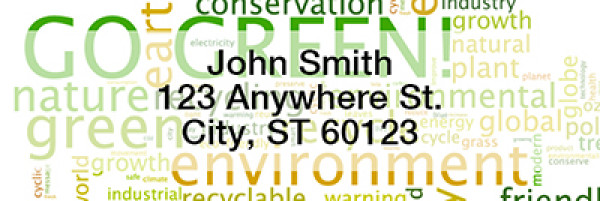 Environmental Awareness Narrow Address Labels | LRRIB-15