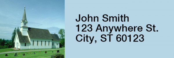 Country Churches Narrow Address Labels | LRRREL-30