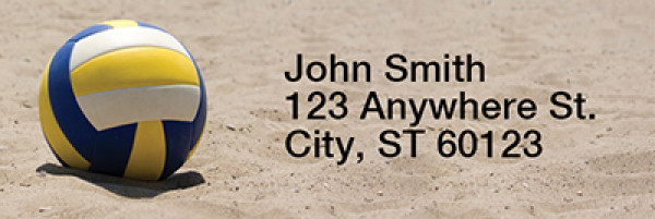 Beach Volleyball Narrow Address Labels | LRRSPO-89