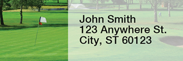 Scenic Courses Rectangle Address Labels | LRSPO-19