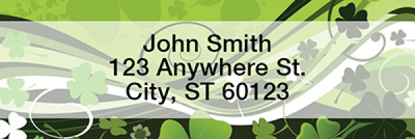 Stylistic Clovers Narrow Address Labels | LRTVL-16