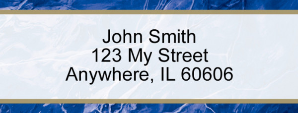 Blue Marble Narrow Address Labels | LRVAL-019