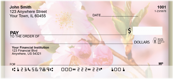 Cherry Blossoms Personal Checks | NAT-19