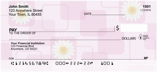 Daisies Personal Checks | OPC-05