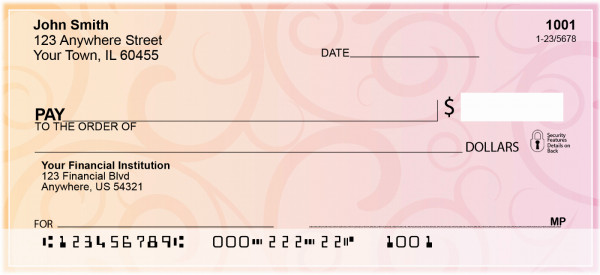 Swirls Personal Checks | OPC-10