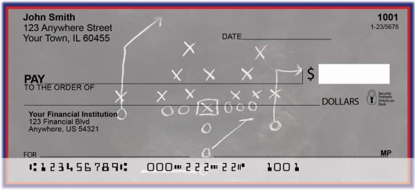 Blue & Red Football Team Personal Checks | SPT-11