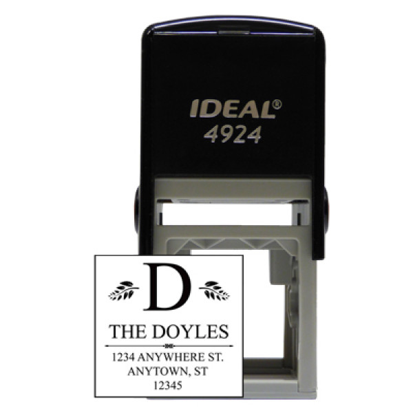 Square Designer Monogram Stamp | STA-LAS-DS04